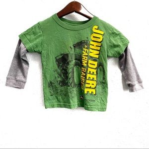 "John Deere Layered ""Farm Raised"" Graphic T-Shirt"